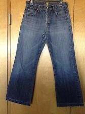 """MEN'S 7 SEVEN FOR ALL MANKIND """"RELAXED"""" Button Fly JEANS TAG 31"""" (31"""" X 29"""") EUC"""