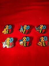 6 Disney Pins Complete 2017 Booster set Mickey,Simba,Dory,Stitc... As Seen lotBB