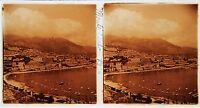 Monaco Monte Carlo Stereo Amateur Targa Di Vetro Pos. 1934 Vintage 7x13cm