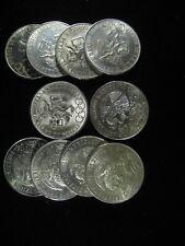 1968 OLIMPIADA 25 PESO CHOICE UNC BU HALF ROLL OF 10 COINS .720 SILVER