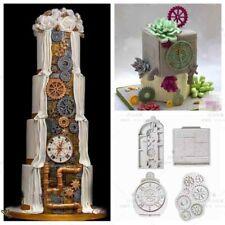 Steampunk Gear Cog Watch Wheel Clock Fondant Silicone Mould Cake Sugarcraft Mold