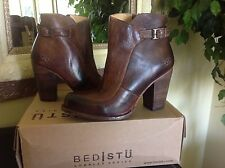 Bed Stu Isla Teak Leather High Heel Ankle Bootie 8M MSRP $255