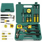 12 Pcs Hand Tool Kit General Household Set with Wrench and Plastic Tool Box