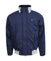 Nike Mens Full Zip Bomber Style Coat Padded Jacket Blue White 167195 477 PP