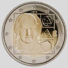 2 Euro Münze Italien 2020 ° 150. Geburtstag von Maria Montessori ° VVK