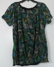 EAST 5TH SIZE 2X WOMAN PLUS SHORT-SLEEVE SCOOP-NECK FULLY LINED TOP/BLOUSE/NEW