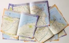 Vintage Map Pages. 20 Original Map Pages