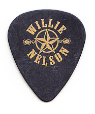 Willie Nelson Star Logo Black Guitar Pick - 2016
