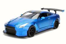 Diecast Car w/Case-Brian's Nissan Ben Sopra GT-R Candy Blue JADA Toys 98247 1/2