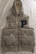 "Polo Ralph Lauren ""P"" Motif Quilted  Cotton Vest With Hood Men's Lg BNWT"