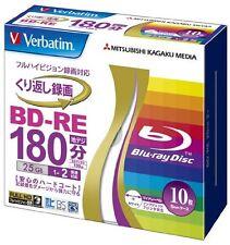 10 Verbatim Bluray DVD Blu ray Video 25GB Rewritable Version BD-RE 2x Repacked