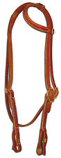 USA Harness leather one ear bridle headstall throatlach quick change Custom H254