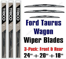 Ford Taurus Wagon 2003-2007 Wipers 3pk Front & Rear Standard - 30240/30200/30180