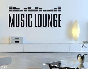 Wandtattoo Sprüche Zitate Mousic Lounge uss137 Wohnzimmer Wandaufkleber Musik