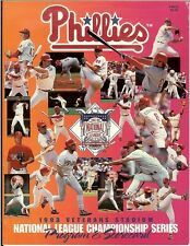Philadelphia Phillies 1993 NLCS Program & Scorecard Magazine vs Atlanta Braves