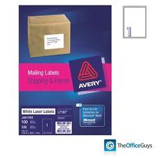 AVERY® L7167 White Laser Labels 199.6 x 289.1mm 1/Sheet, Box 100 (959009)