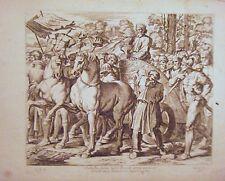 EAU FORTE DE NICOLAS CHAPERON 1649 LES LOGE DU VATICAN DE RAPHAEL TRIOMPHE DAVID
