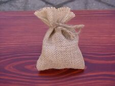 SET OF 10 JUTE HESSIAN RUSTIC FAVOUR BAGS, WEDDING, CHRISTMAS, GIFT BAGS & BOXES