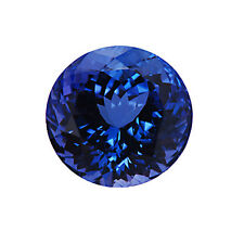 Brilliant Round Cut Deep Blue AAA Tanzanite 7mm 1.50 Carats Loose Gem Stone
