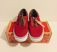 Vans Era 59 Canvas / Leather Tibetian Red / Geo Weave US Size M 9 W 10.5