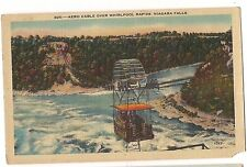 AERO CABLE over WHIRLPOOL RAPIDS Niagara Falls NY Canada Linen Postcard