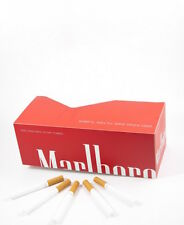 200 NEW Marlboro Red King size cigarette papers tubes with 15mm filter!!