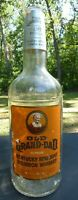 Vintage Old grand dad one gallon 100 proof Kentucky whiskey bottle Empty #34
