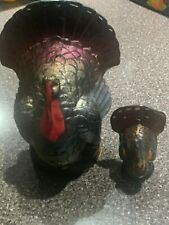 """2 Vintage Gurley Turkey Candles One 6 1/4""""Tall One 3"""" Tall"""