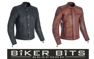 Oxford Hampton Klassisch Leder Motorradjacke Ce Protektoren Thermofutter