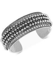 NWT Auth Lucky Brand Jewelry JLRY4652 Big Silver-Tone Spike Cuff Bracelet