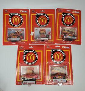 1992 McDonalds Promotional NASCAR Top Fuel & Funny Car 1/64 5 Piece Lot