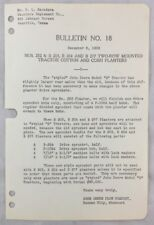 1938 Antique John Deere Bulletin / Tractor Cotton And Corn Planters