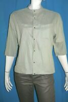 THIERRY MUGLER Taille 44 Superbe chemise manches 3/4 gris vert femme blouse