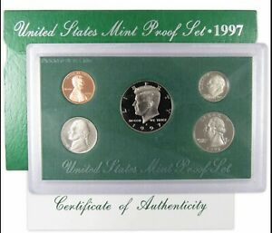 1997 S Proof Set U.S. Mint Original Government Packaging OGP Collectible
