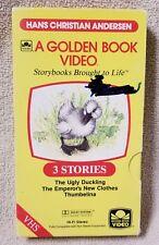 HANS CHRISTIAN ANDERSEN CLASSICS Golden Book Video VHS Tape 1986 Picturemation