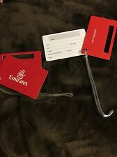 Emirates Airline Plastic Luggage  ID Name Tag (Lot Of 2) Free shipping