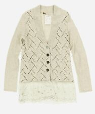 Free People Women's Outmeal He Knit Cardigan Sz S 134276