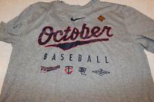 "New listing NWT NIKE Minnesota Twins ""OCTOBER BASEBALL"" DRI FIT Tee T-Shirt Large NICE! POST"