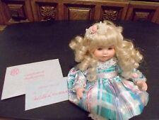 Marie Osmond Tiny Tots Angelica's 1st Birthday Doll + COA + Necklace