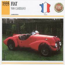 1935 FIAT 508S Camerano Racing Classic Car Photo/Info Maxi Card