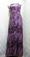 ALFRED ANGELO GORGEOUS EVENING GOWN IN BLACK CHERRY CHIFFON W/ BEADING SIZE 4