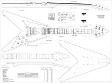 Gibson Flying V  guitar PLANS - to make a  guitar -  actual size