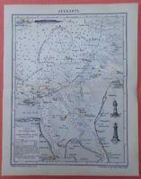 Seekarte Nordsee Mündungen Jade Weser Elbe Helgoland historische Seekarte 1898