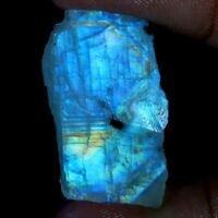 Natural Fire Rainbow Moonstone Rock Rough Slab Awesome Rough