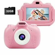MEIWU 3 Inch Touch Screen Kids CameraDual Camera Rechargeable Shockproof Todd...