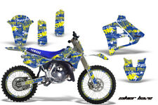 Yamaha YZ250 Graphic Kit Wrap + Number Plate Decals Stickers 1991-1992 SLVRHZE Y