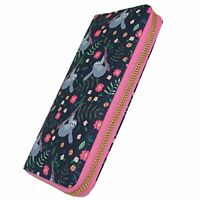 Sloth Pattern Zip Around Purse - Nice Wallet For Cards and Coins - Animal Zoo