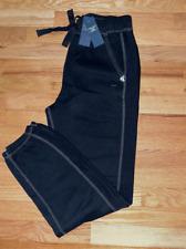 NWT Abercrombie & Fitch A & F Women banded Sweatpants Pants L Black
