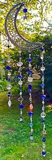MOON SUNCATCHER-STARS, MOONS-BLUES/CLEAR-HANDCRAFTED-3 DIMENSIONAL # 916