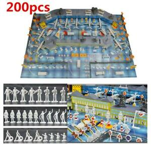 200PCS Airport Playset Airplane Aircraft Models Accessories Assembled Xmas Gifts